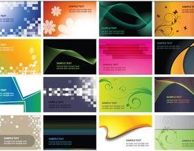 Abstract Vivid Cards vectors