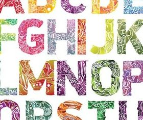 Natural Style Alphabet vector
