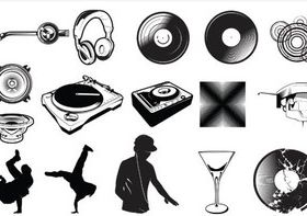 DJ Objects free vector