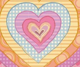 Cartoon love background vector