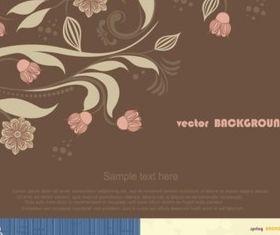 Simple flower background vector set