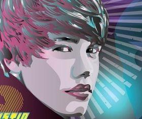 Justin Bieber World vector graphics