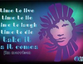 Jim Morrison set vector