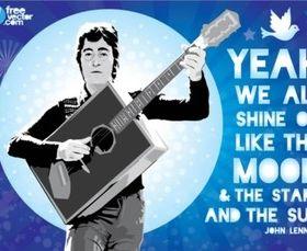 John Lennon Illustration vector