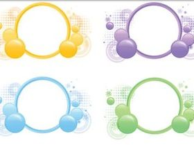 Abstract Circle Frames vectors graphics