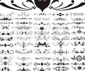 Floral Elements Templates vector graphics