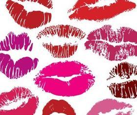 Traces Kisses vector