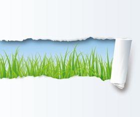 Paper grass set vector