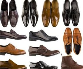 Stylish Mens Shoes vector set