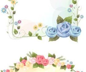 rose vine border vector