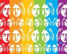 John Lennon Art vectors material