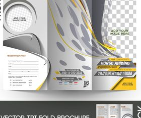Tri Fold brochure cover 5 vector