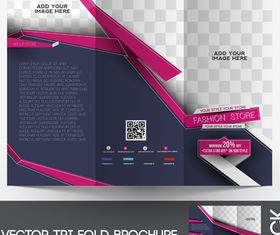 Tri Fold brochure cover 6 vector