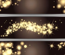 Star christmas banner 3 set vector