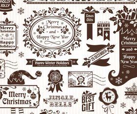 Christmas Elements 1 design vector