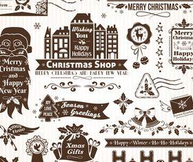 Christmas Elements 2 design vector
