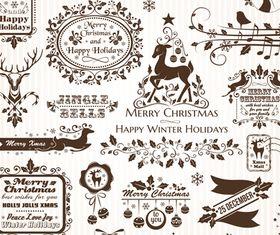 Christmas Elements 4 design vector