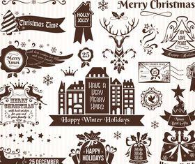 Christmas Elements 5 design vector
