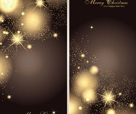 Star christmas banner 1 vector