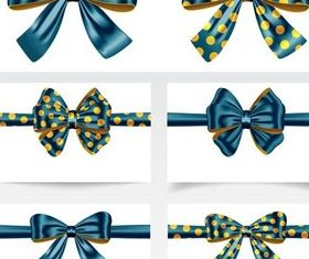 Shiny Stylish Bows vectors