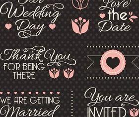 Original Wedding Elements vectors graphic