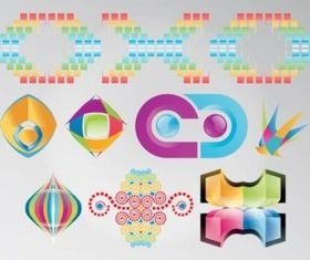 Rainbow Colored Logos vector