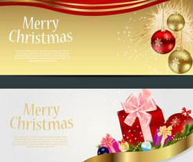 Christmas Ornament banner Illustration vector