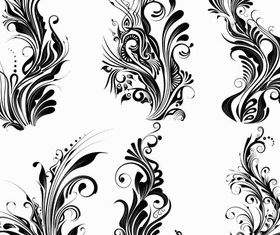 Ornate Floral Elements vector design