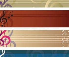 Music Banners free vector