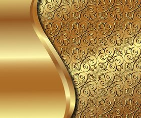 Gold Backgrounds graphics 7 vector material