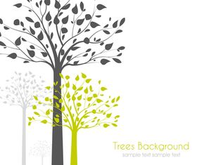 Autumn tree background 1 shiny vector