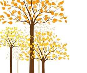 Autumn tree background 2 shiny vector