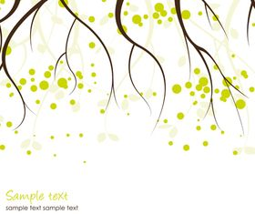 Autumn tree background 4 shiny vector