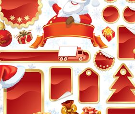 Christmas blank tags 2 vector graphics