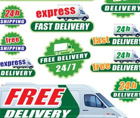 24h Delivery tags vector