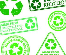 Eco Green stamp vectors material