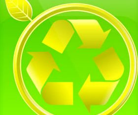 Eco glass icons vector graphic
