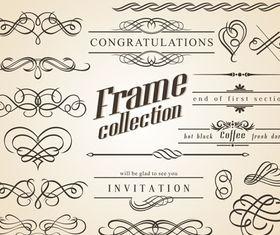 Vintage frames 5 creative vector