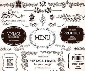 Vintage frames 6 creative vector