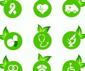 Eco Green Icons 3 vector graphics