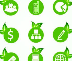 Eco Green Icons 4 vector graphics