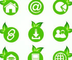 Eco Green Icons 5 vectors graphics