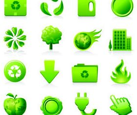 Eco Green Icons 6 vector graphics