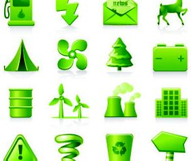 Eco Green Icons 7 vector graphics