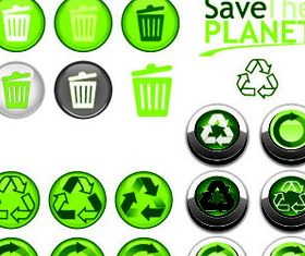 Eco Green Icons 8 vector graphics