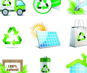 Eco Green Icons 9 vector graphics