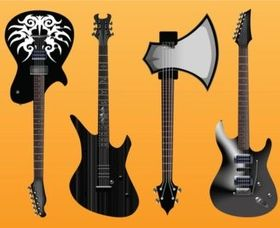 Electric Guitars Freebies vector