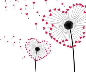 Cartoon love dandelion design vector