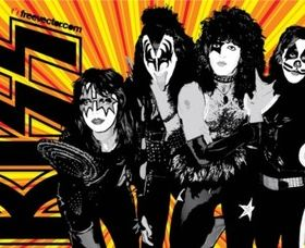 KISS Band vector