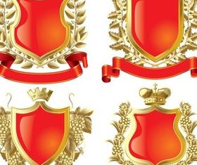 Red Royal Emblems vector